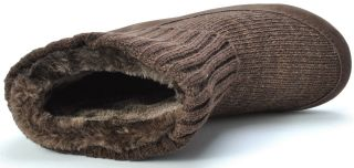 Lucky Brand Shoes GALI2 Tobacoo Dark Brown Ankle Slipper Boots Womens