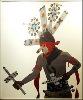 Louis de Mayo Apache Gan Dancer Original Acrylic Painting Fine Art