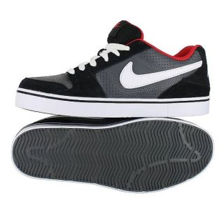 Nike Ruckus Low Dark Grey Black Red White Mens US Size 9 5 UK 8 5