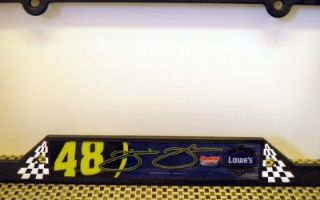 NASCAR Jimmie Johnson Plastic License Plate Frame Made in USA