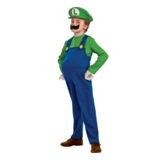 Luigi Super Mario Bros Nintendo Deluxe Toddler Child Costume