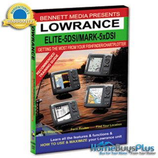 Bennett Training DVD F Lowrance Elite 5 DSi Mark 5X DSi