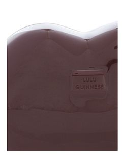 Lulu Guinness Perspex lips clutch bag
