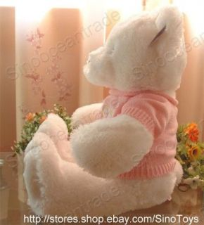 Teddy Bear White Female Smile Pink Sweater Big Paw 28
