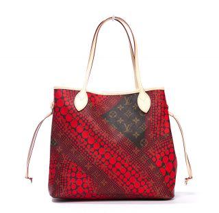 Louis Vuitton Ed Kusama Yayoi Monogram Waves Red Neverfull mm Bag