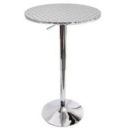 LumiSource Bistro Hydraulic Bar Round Table Chrome BT Bistro