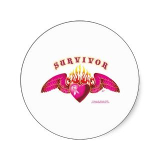 Breast Cancer Survivor Logo Round Stickers