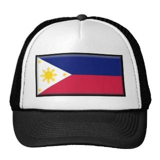 Philippine Flag Hats and Philippine Flag Trucker Hat Designs