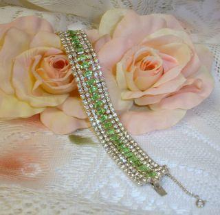 Juliana Green Crystal Rhinestone Silvertone Bracelet