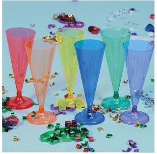 Colored Champagne Flutes Glasses Christmas Luau Birthday Party