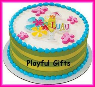 Luau Cake Party Decoration Top