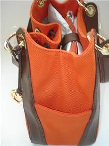 New Michael Kors Ludlow Bag Tote Tangerine Canvas
