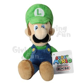 Genuine Nintendo Super Mario Bros 9 Luigi Plush Doll