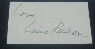 Oldest Living Academy Award Winner Luise Rainer Signed Card and Great