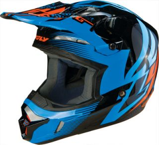 2013 Fly Racing Kinetic Inversion Adult Helmet Blue Black SM XXL