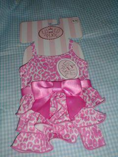 Pet Dog Clothes Pink Ruffle Dress XS Lulu Pink NWT