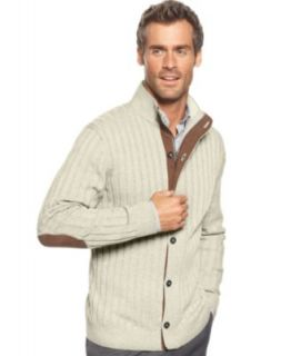 Tasso Elba Sweater, Wide Rib Cardigan Sweater