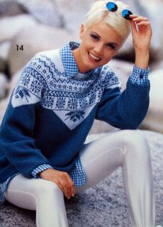 Knitting 31 Patterns Fair Isle Cables Jacquard Sweaters Hats Bags