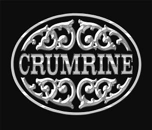 Crumrine Team Roping Silver Gold Belt Buckle M F Western
