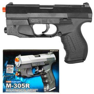 James Bond M305R Spring Pistol FPS 140 Airsoft Hand Gun + Laser + LED