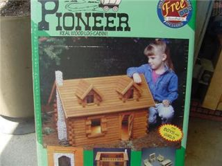 Pioneer Real Log Cabin Dollhouse Dura Craft New SEALED