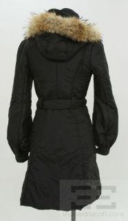Mackage Black Raccoon Fur Trimmed Hood Puffer Coat Size x Small