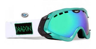 New $135 Dragon Mace Snow Goggles Hog Wild Green ion Mirror Lens 722