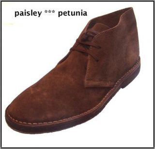 Mens J Crew Suede MacAlister Boots 6 $135 Chestnut