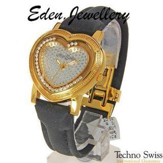 Luxury Techno Swiss Diamond Watch 3 Straps Value US$950
