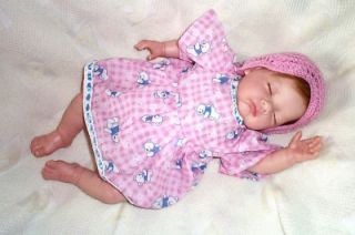 Beautiful Reborn Sleeping Baby Girl Doll Rooted Hair