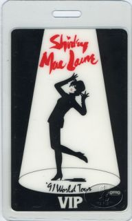 Shirley MacLaine 1991 Tour Laminated Backstage Pass