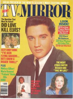 TV Mirror Magazine Did Love Kill Elvis Presley? September 1978