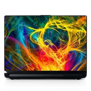 Laptop Computer Skin Fits PC or Mac Light Show 047