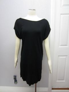 Rachel Roy  Black Studded Shoulders Tunic Wide Neck Dress M