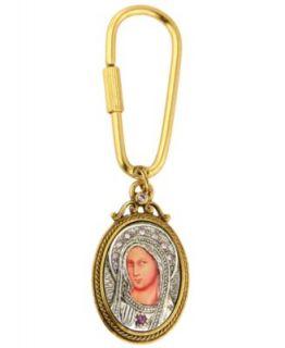 Vatican Key Chain, Gold tone Key and Charm Key Chain   Fashion Jewelry