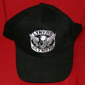 Lynyrd Skynyrd Hat Biker Logo Black Size Large XL New