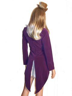 Mad Hatter Alice Wonderland Fancy Dress Costume Sz s L