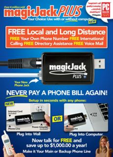 New SEALED Magic Jack Plus with 1 Year Phone Service Included