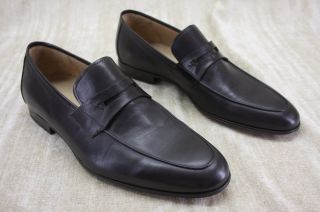 Magnanni Mens Espin Penny Loafers Shoes Size 8 5 Brown Leather $299