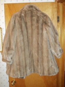 Metzger Group by Erika Vintage Champagne Mink Faux Fur Real Leather