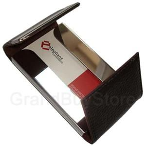 Leather Magnetic Business Credit ID Card Case Holder BR