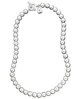 Lauren Ralph Lauren Necklace, 16 Silver Tone Metal Bead Collection