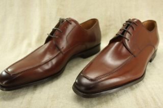 Magnanni Ricardo Square Toe Tomo Brown Leather Lace Up Oxfords Size 13