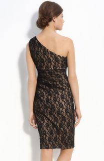Maggy London One Shoulder Lace Dress Size 4