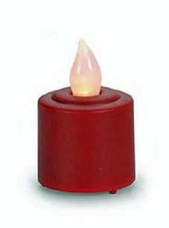Battery Operated Flicker Flame LED Votive Candles Red