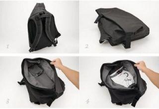 Coteetciel Rucksack for MacBook Pro 17 Black Trendy Backpack New