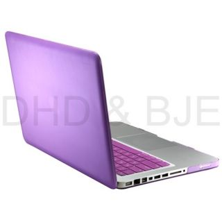 in 1 Purple Hard Case for MacBook Pro 13 Keyboard Cover LED Screen