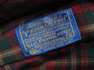 Sir Pendleton Red Plaid MacDougall Tartan Wool Mens Shirt Size Medium