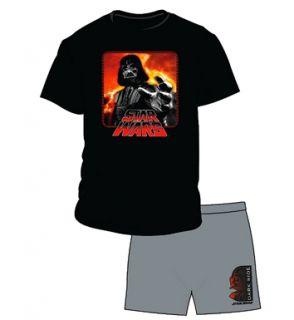 Pigiama Uomo Maglietta E Shorts Uomo Ufficiale Star Wars Darth Vader