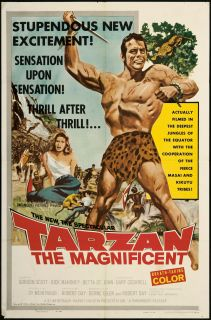 Tarzan The Magnificent 1960 Original U s One Sheet Movie Poster